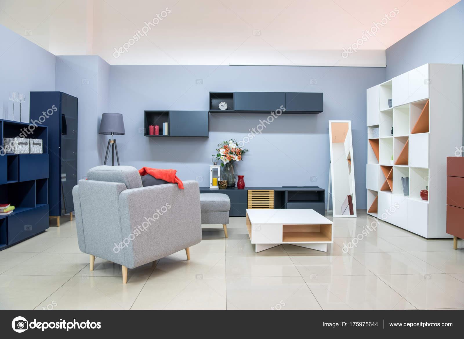 Moderne Wohnzimmer Einrichtung Mit Möbel — Stockfoto © VitalikRadko ...