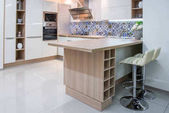 Photo cozy modern kitchen interior with furniture