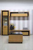 moderní obývací pokoj interiér skříně a police