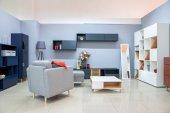 moderne Wohnzimmereinrichtung mit Möbeln