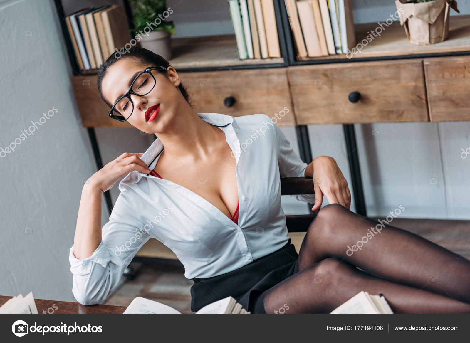 sexy image young teacher