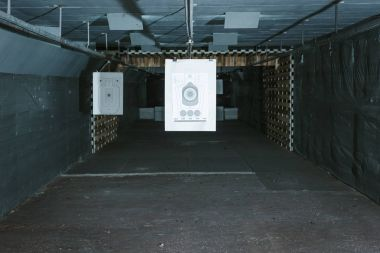 targets for shooting in empty shooting gallery