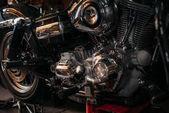 Fotografie close-up shot of vintage motorcycle engine