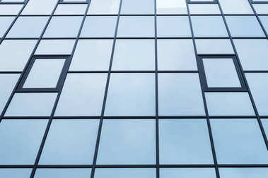 Low angle view of building windows texture stock vector