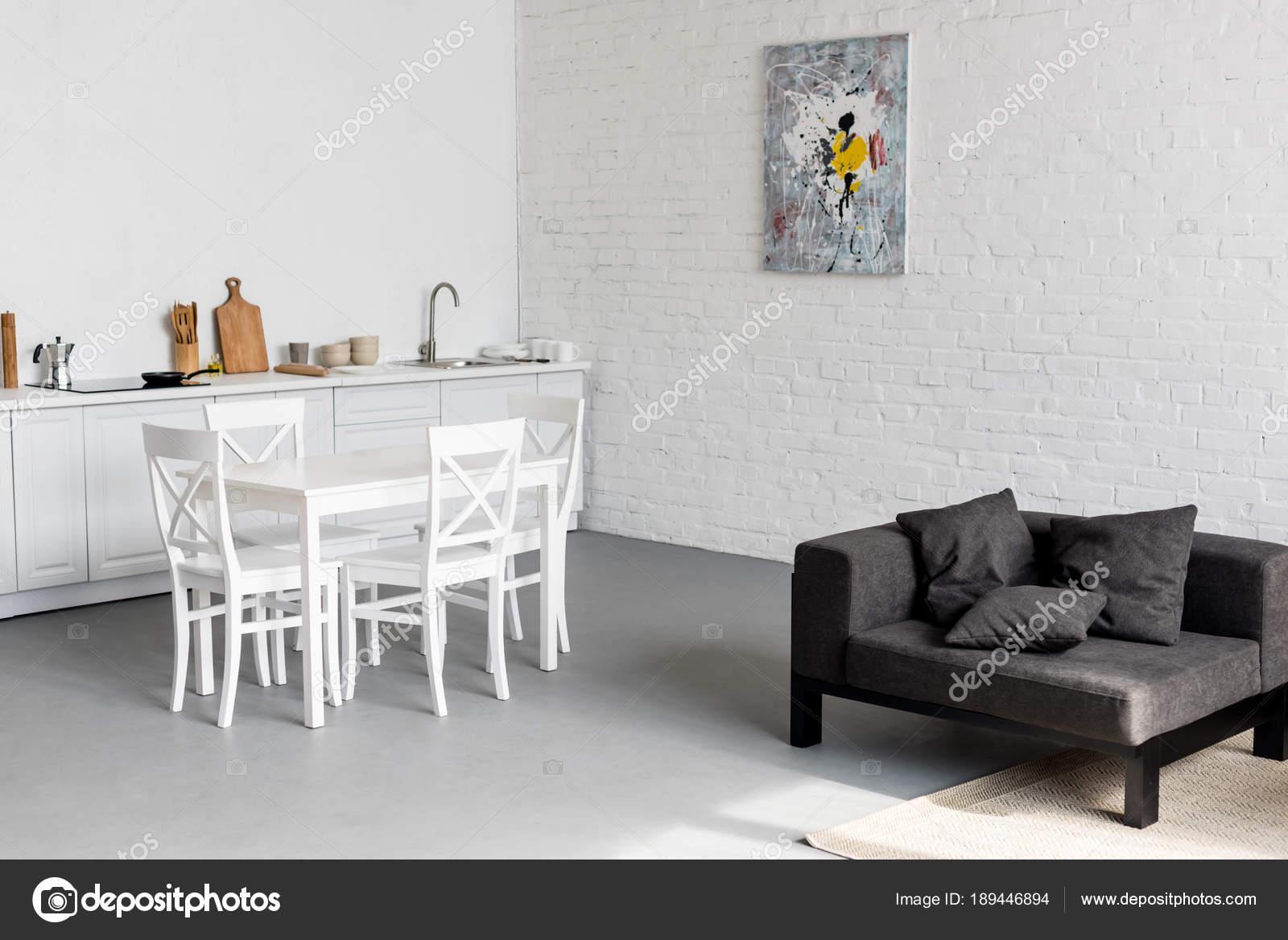 Mesa Comedor Cocina Apartamento Moderno — Foto de stock ...