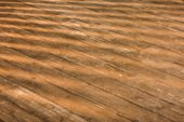 Photo close up view of brown wooden floor as background