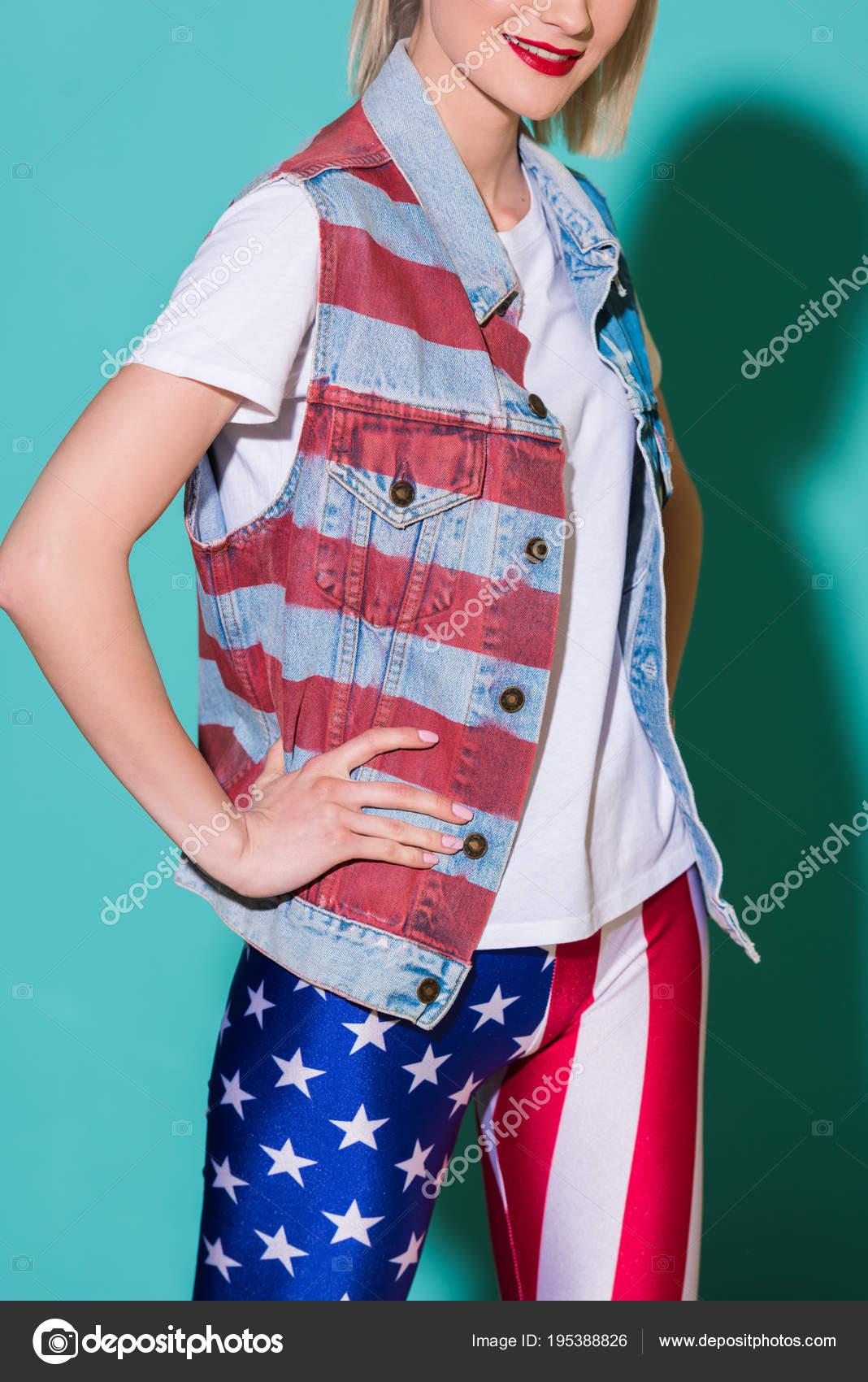 Chaqueta bandera americana