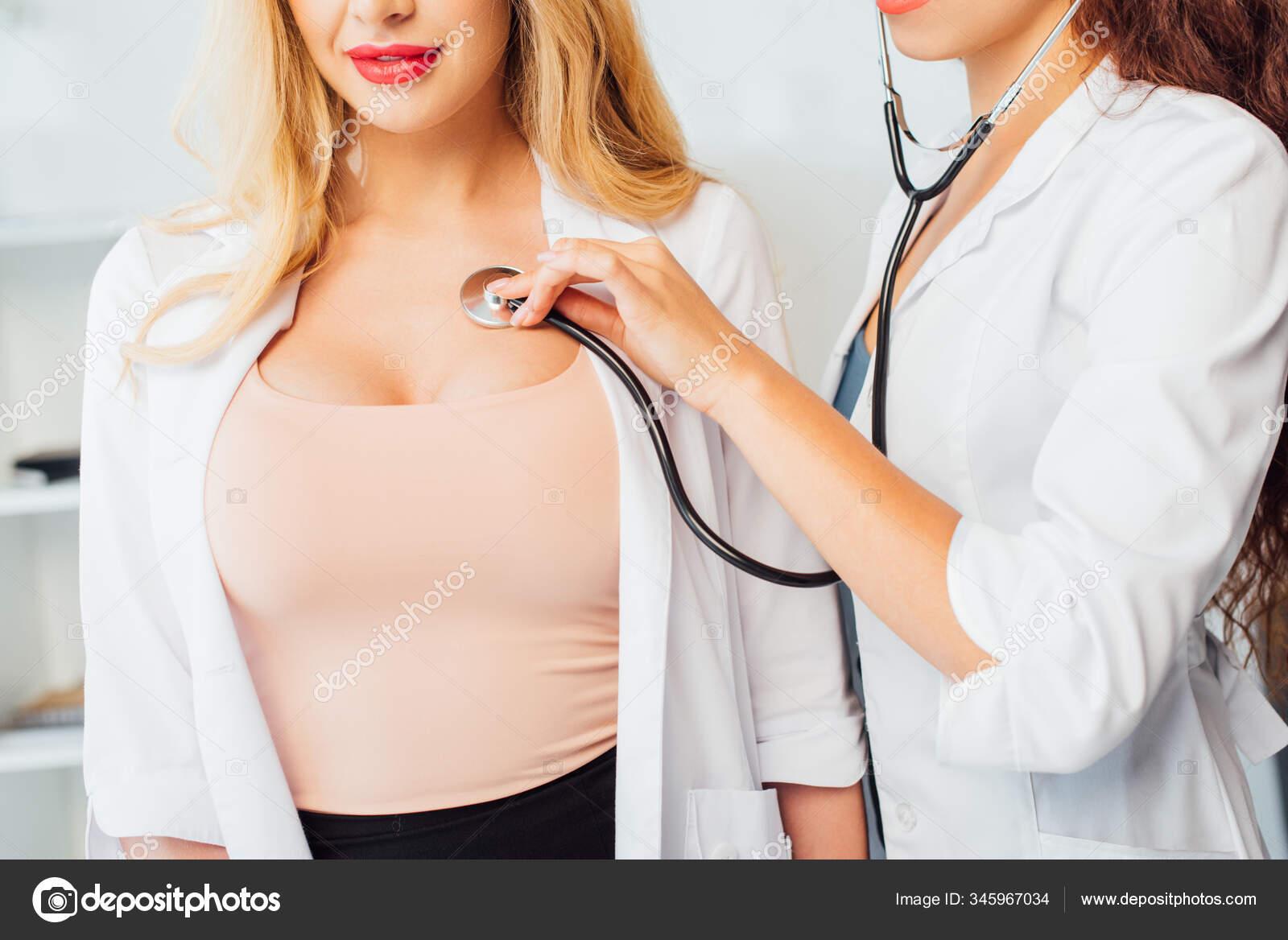 Ausgeschnittene Ansicht Einer Sexy Krankenschwester Die