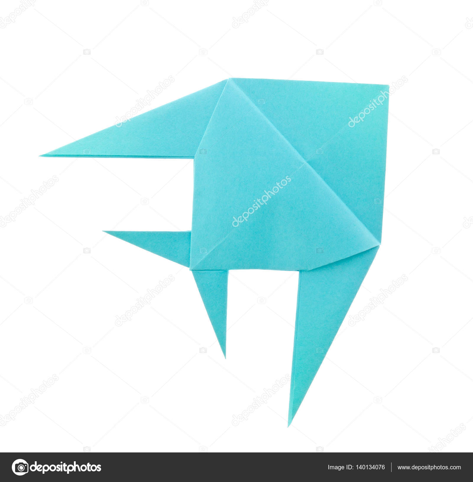 Blue tropical fish of origami stock photo brulove 140134076 blue tropical fish of origami stock photo jeuxipadfo Images