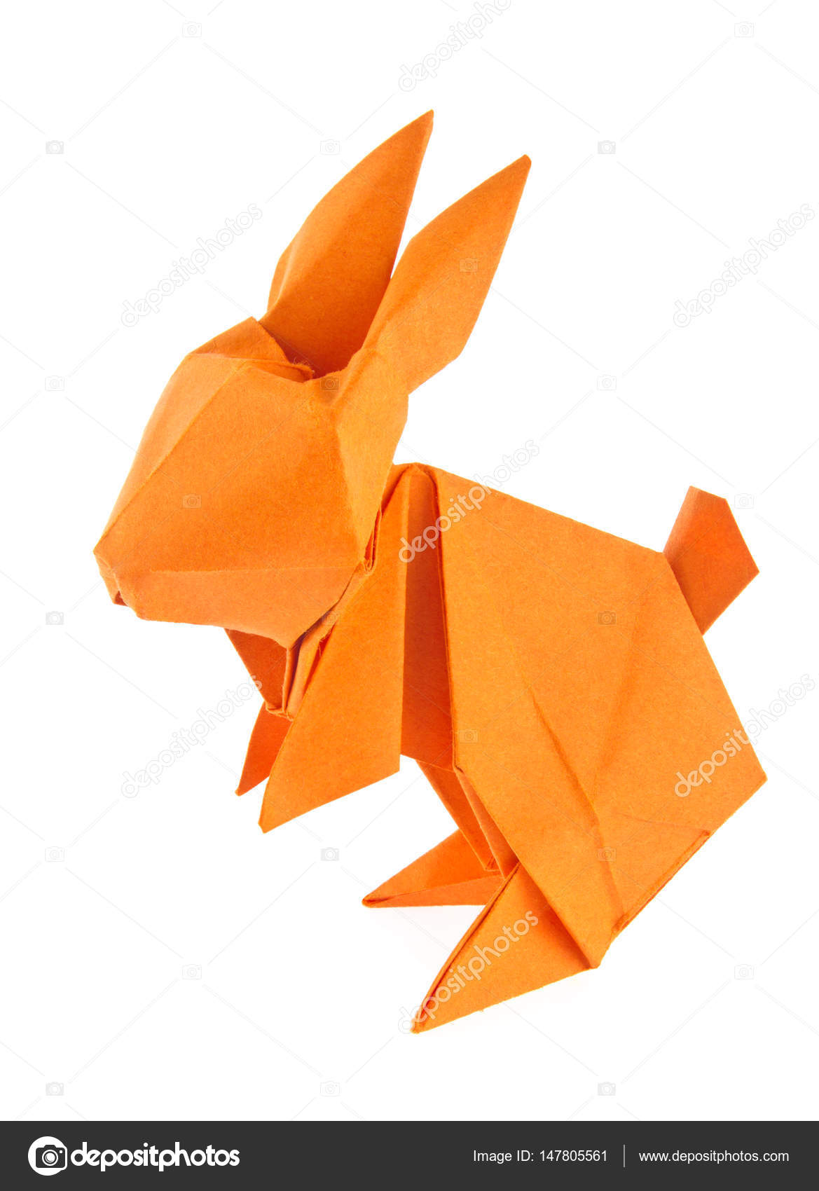 Simple Origami Easter Bunny Rabbit Paper Craft | 1700x1169
