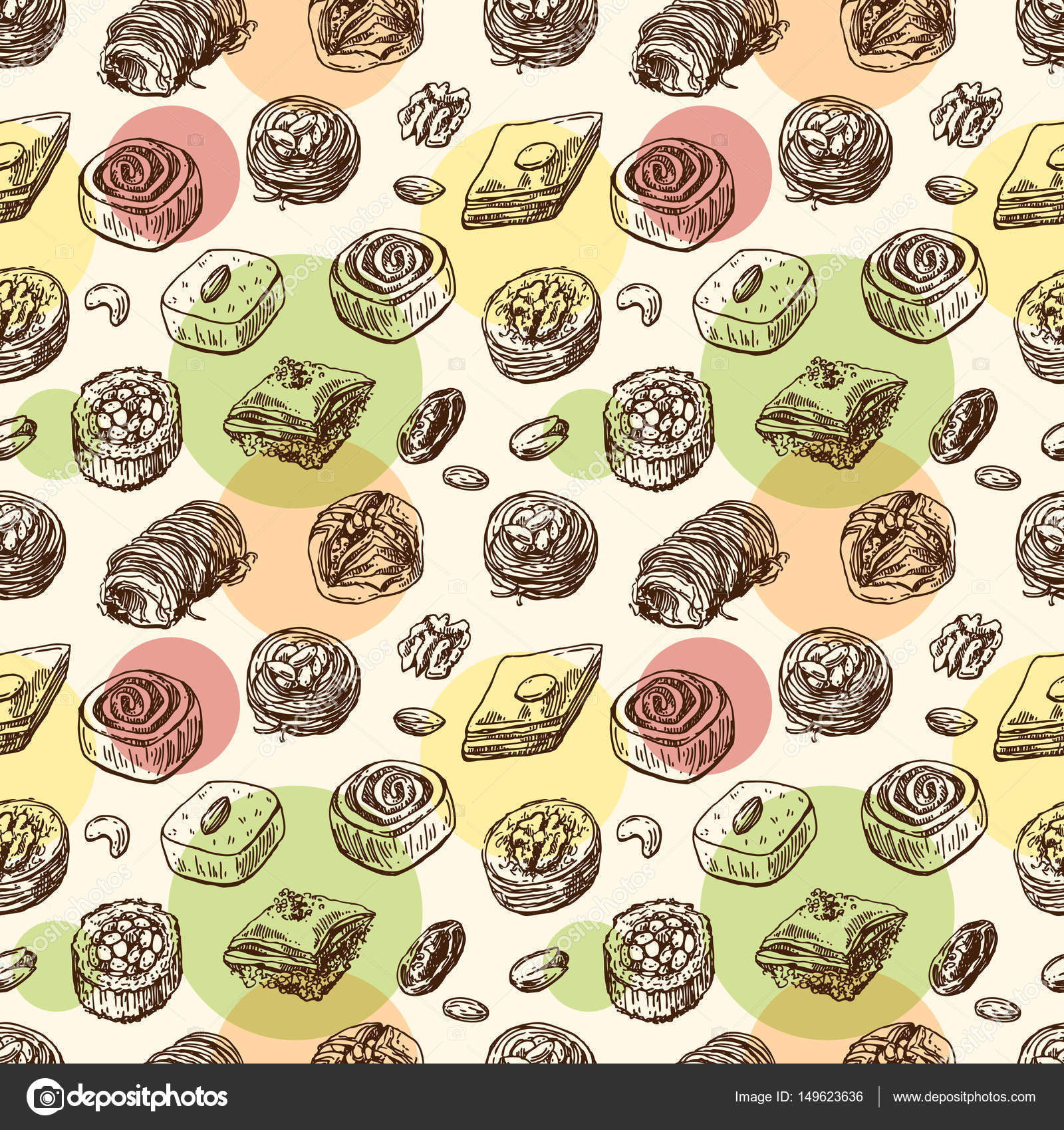 東洋のお菓子イラスト ストックベクター Margarita87 149623636