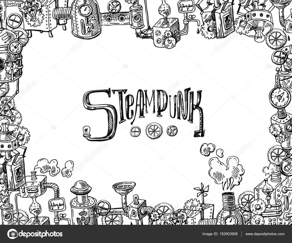 vector steampunk frame — Stock Vector © Margarita_87 #152903908