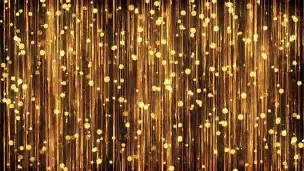 Goldpartikel im Hintergrund. nahtlose Schleife