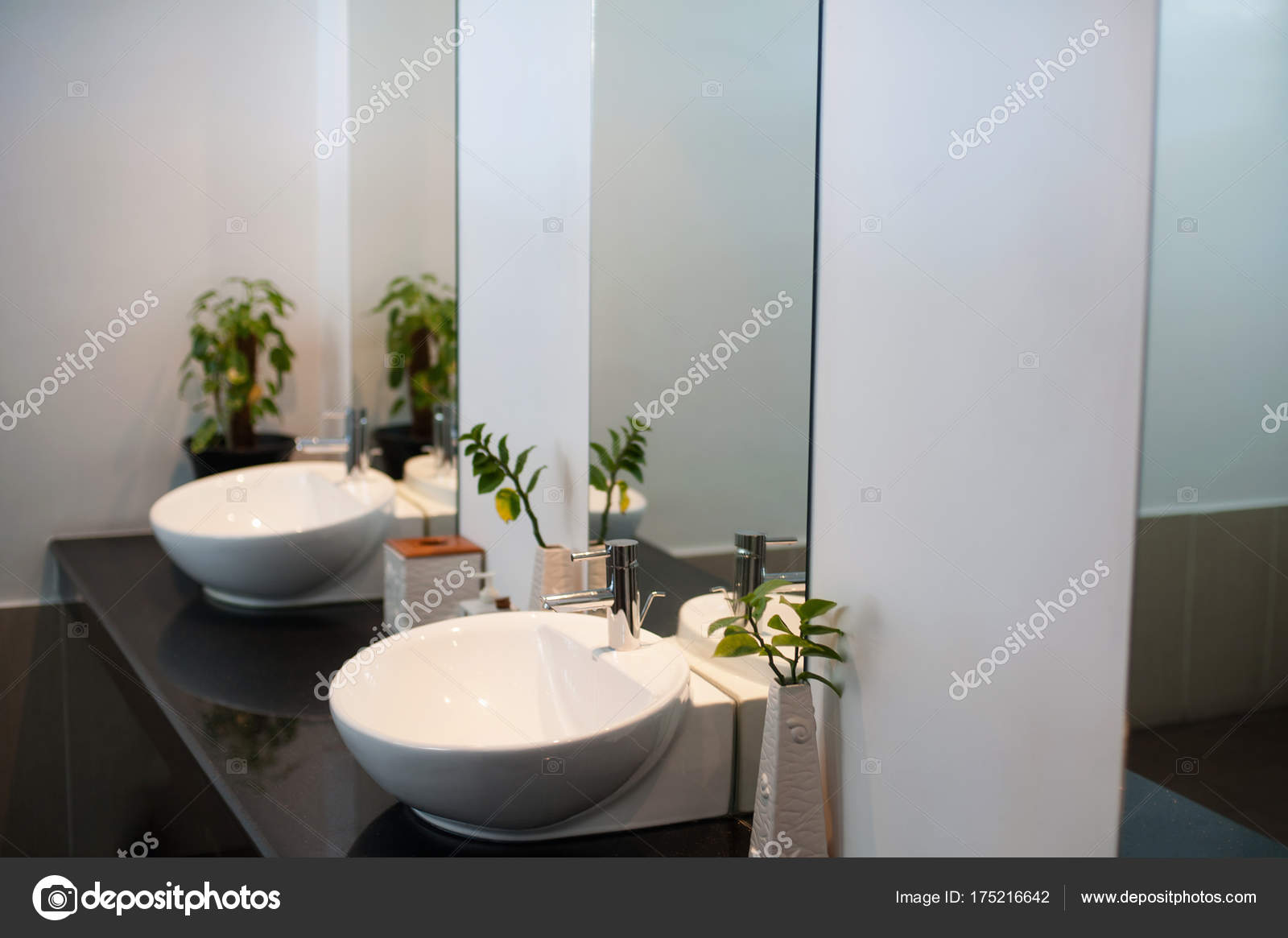 Ceramic Sink With Chrome Mixer In Contemporary Toilet Interior Of European Public Washroom Photo By Dmvasilenko