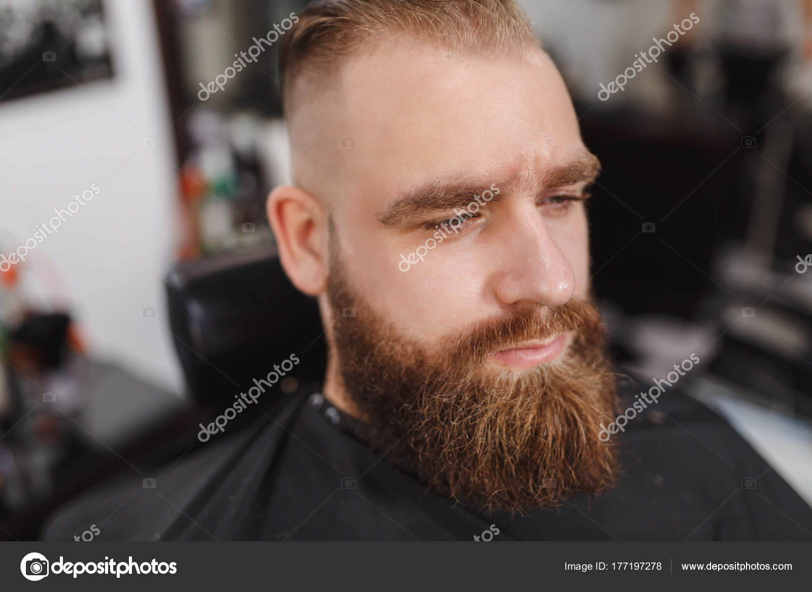Coupe homme tendance avec barbe