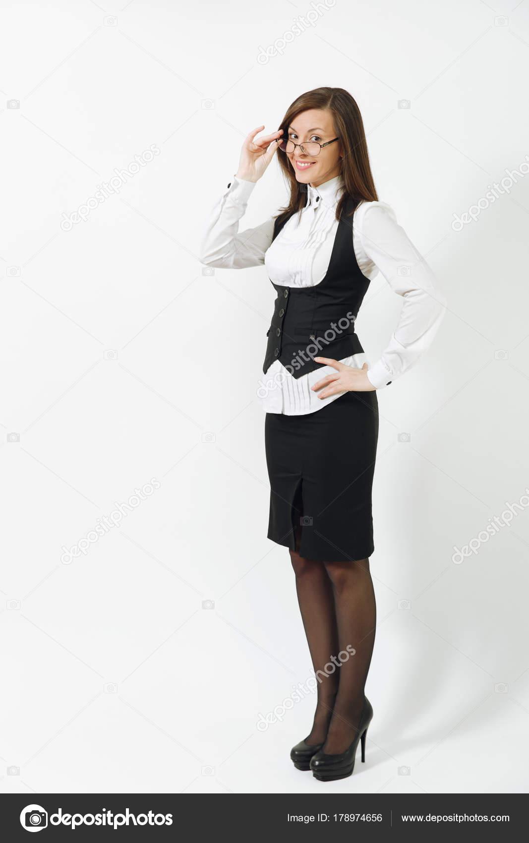 sorridente di bella integrale giovane donna caucasica Ritratto 8fgXqpn