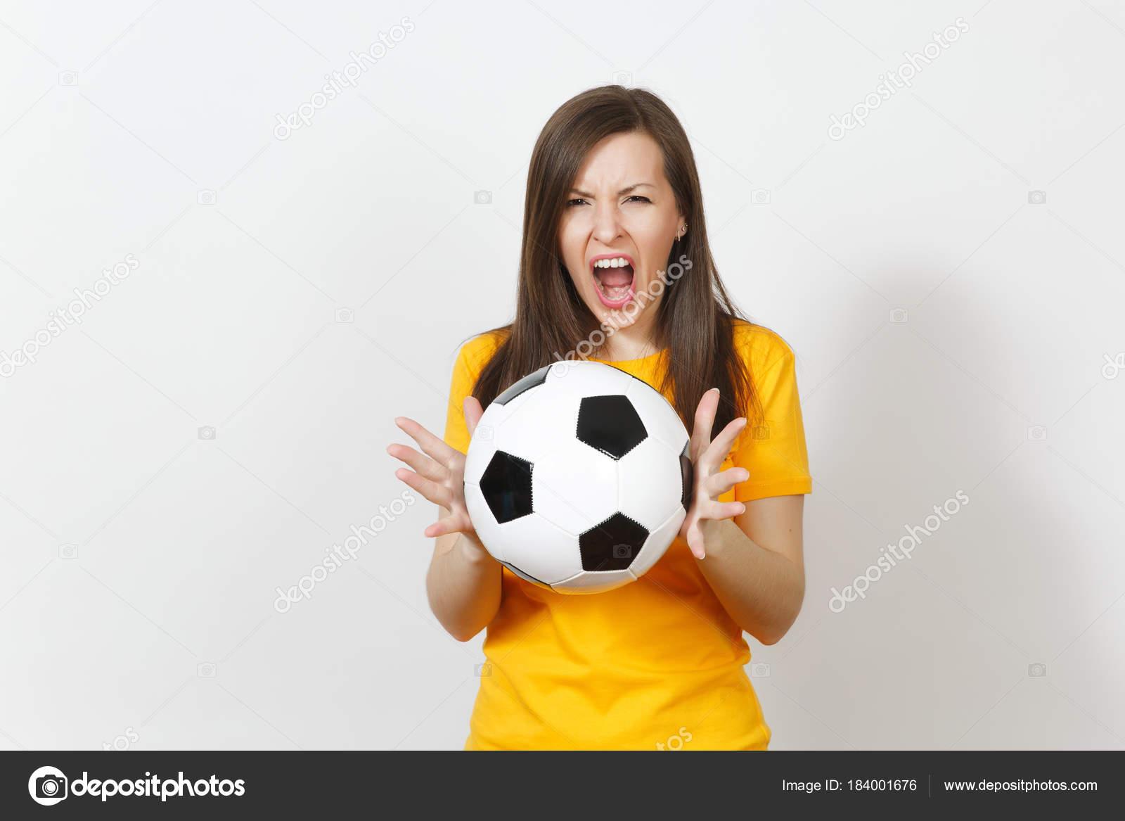 13009fd49d3c6 Hermosa joven europeo enojado gritando mujer