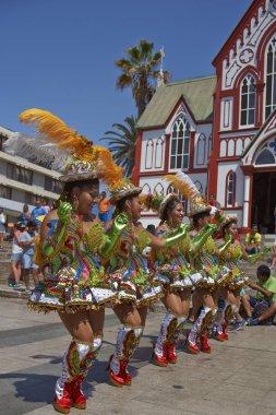 Morenada Dancers performing in Arica, Chile