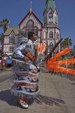 Morenada Dancer performing in Arica, Chile