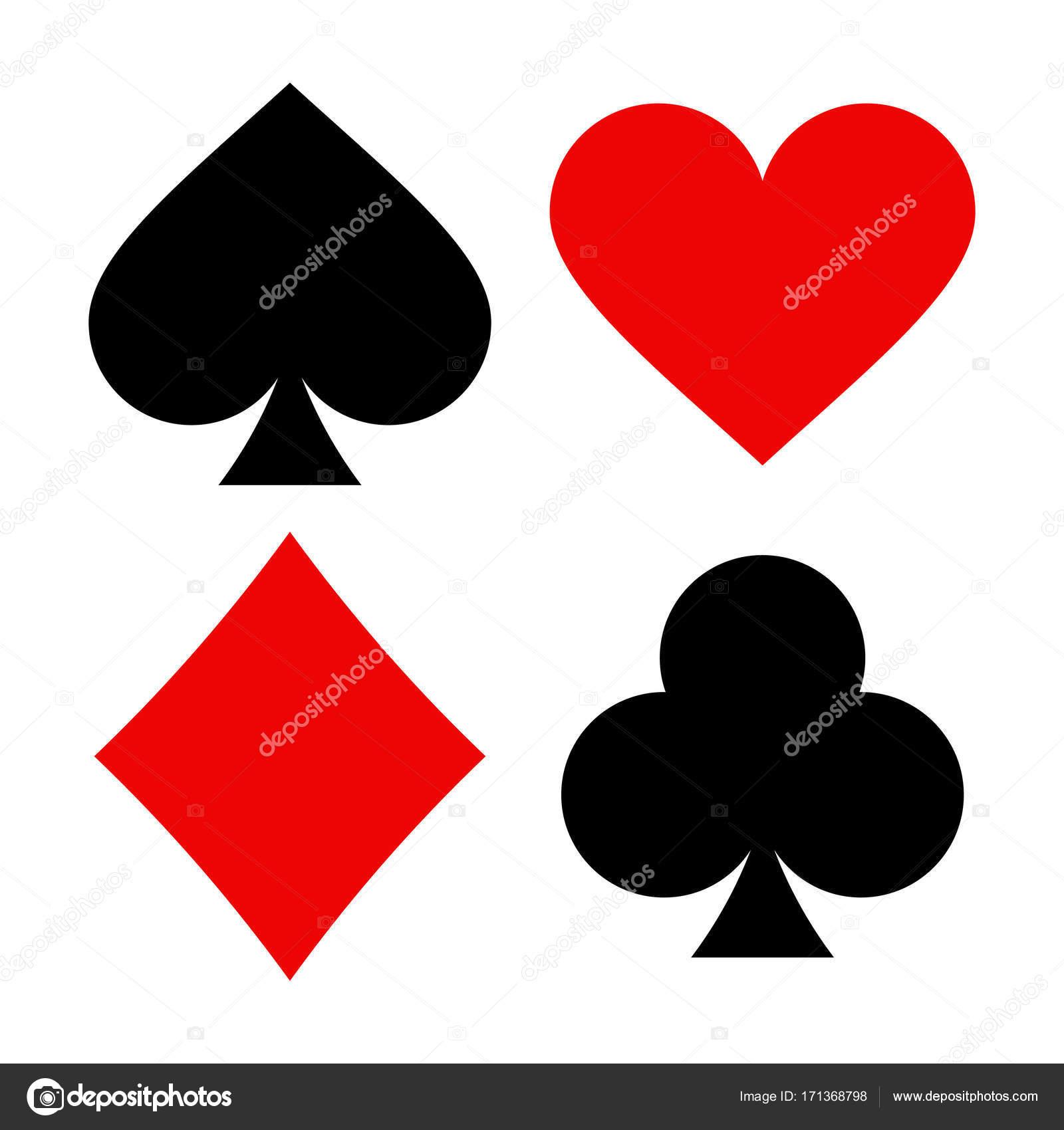 Playing Card Symbols Stock Vector Nikolae 171368798