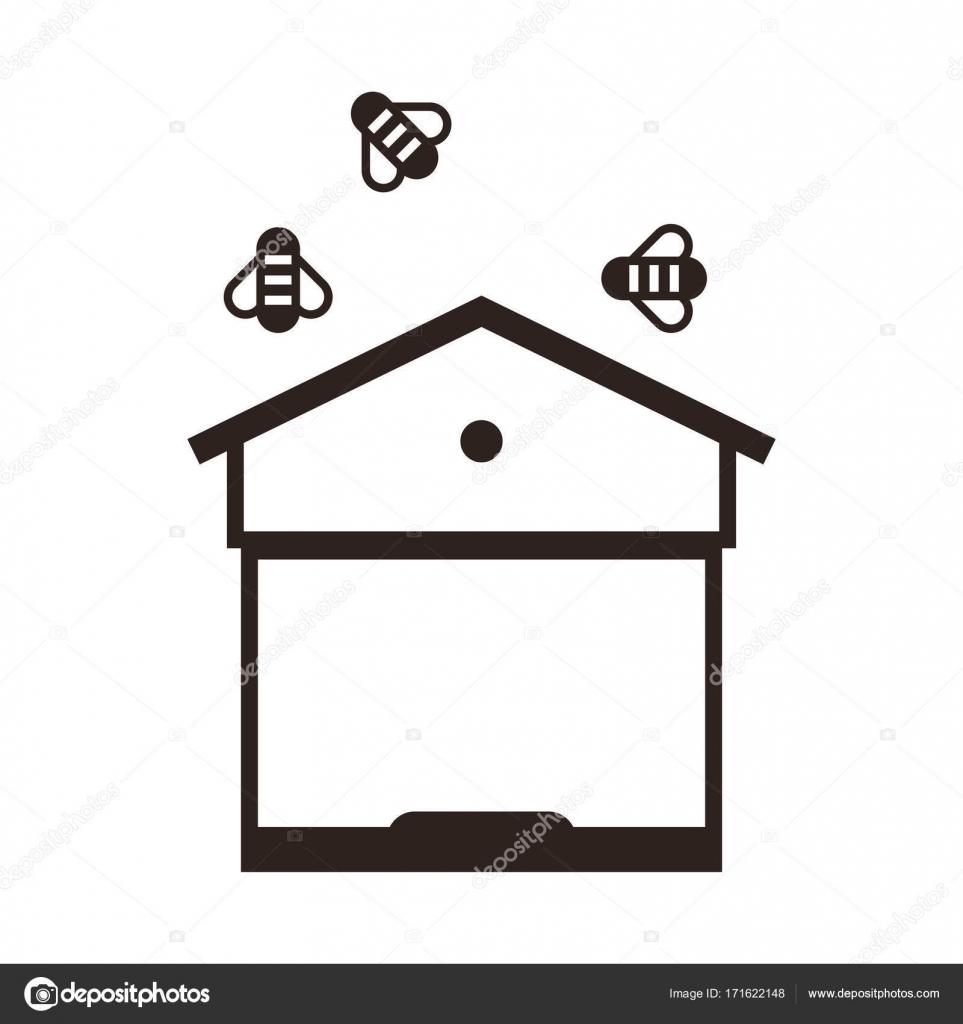 Colmena y las abejas — Archivo Imágenes Vectoriales © nikolae #171622148