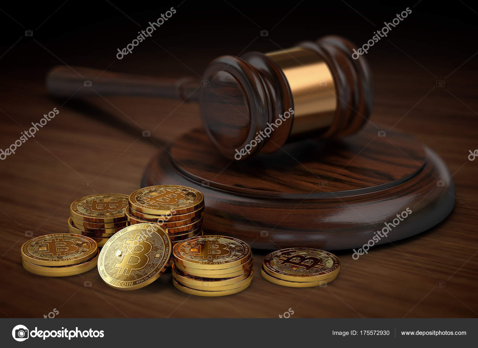 stack or piles of bitcoin in the court bitcoin taxation and legal