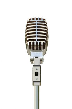 3d illustration of an old microphone isolated on white background stock vector