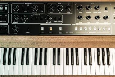 vintage musical keyboard