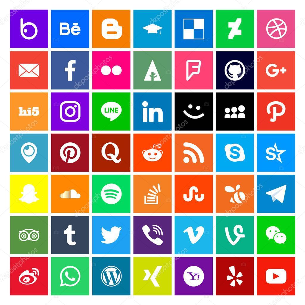 Social Media Icon Metro Style