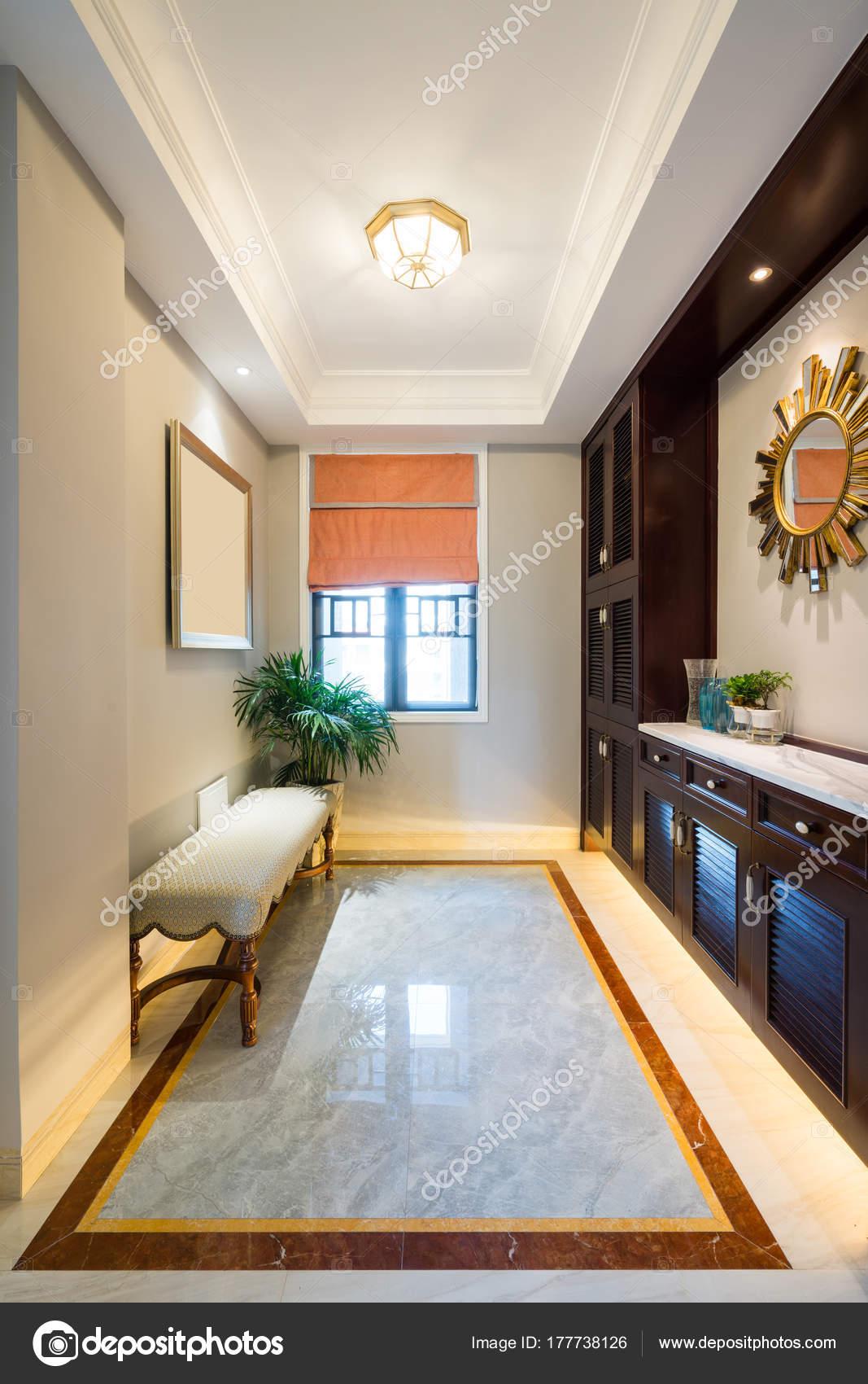 Intérieur Belle Maison Avec Décoration Luxe — Photographie ...