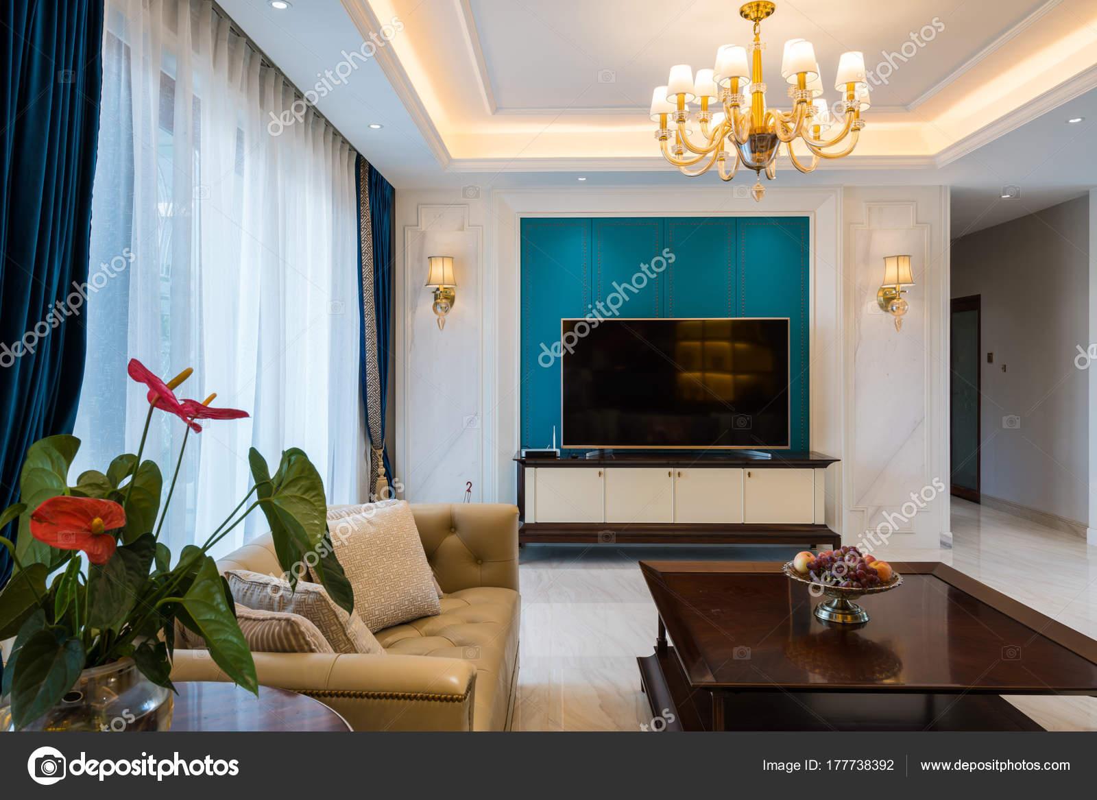Haus Innen Mit Luxus Dekoration — Stockfoto © roseburn3djob #177738392