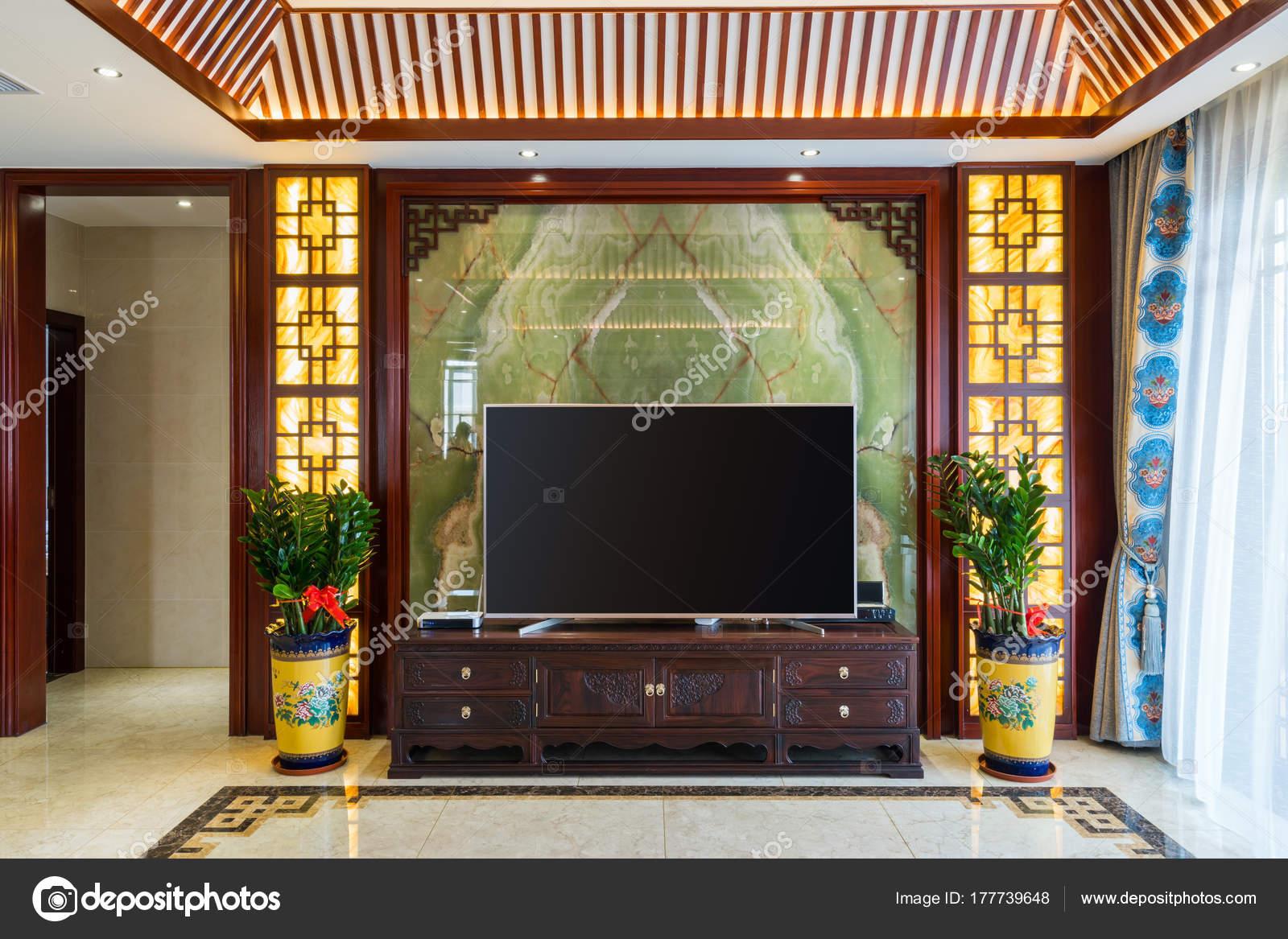 Haus innen mit chinesischen Stil Dekoration — Stockfoto ...