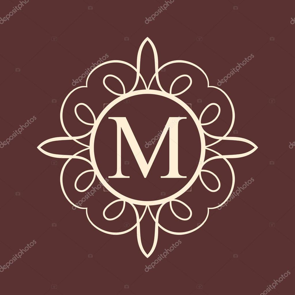 Vintage ornamental monogram