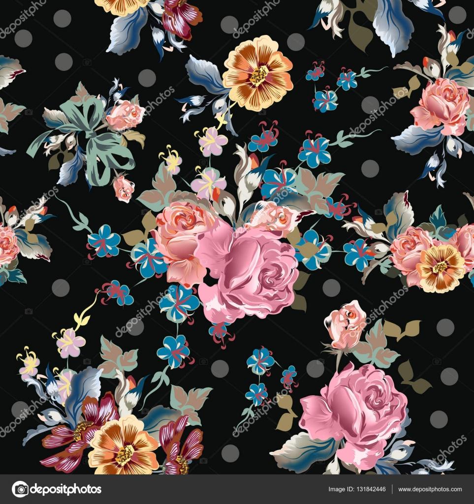 patr n de vector para el dise o de papel tapiz con flores On papel tapiz de patron para el pasillo