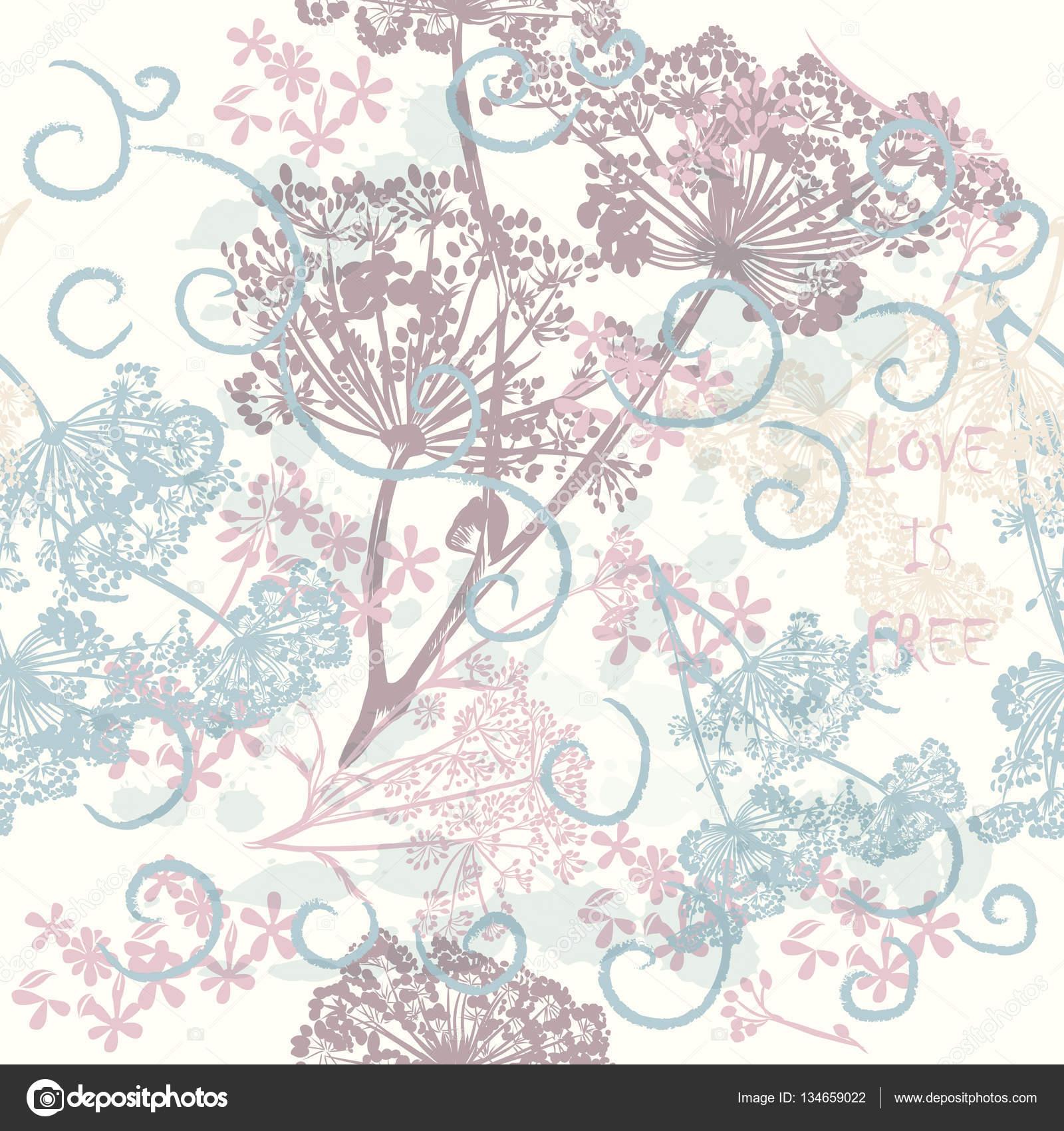 Vector tapiz de flores patr n de vector para el dise o for Papel tapiz de patron para el pasillo
