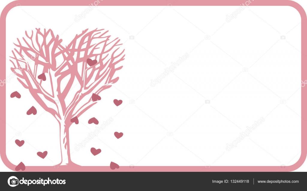 Leeres Etikett Tag mit Herz-Baum — Stockvektor © socris79 #132449118