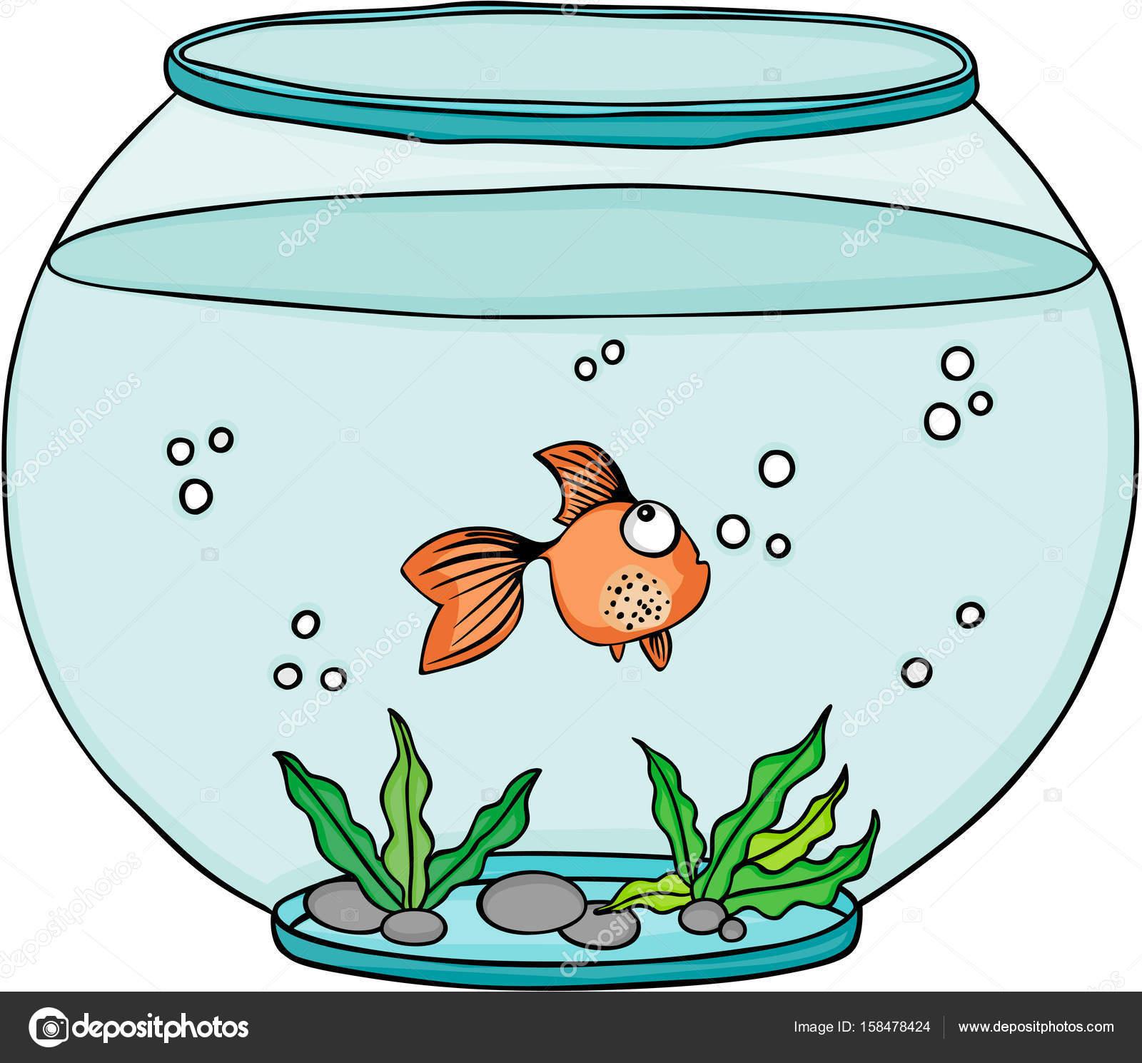 Orange im Globus Aquarium Fische — Stockvektor © socris79 #158478424