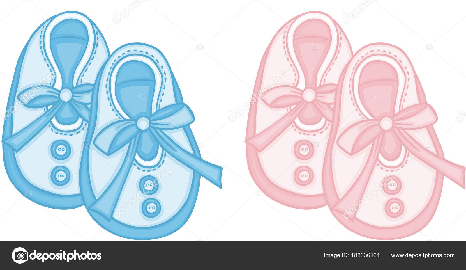 Blue Pink Baby Shoes Stock Vector C Socris79 183036164