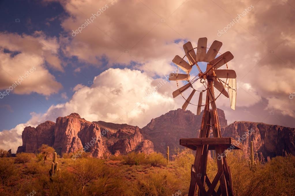 Az desert mountain landscape scene