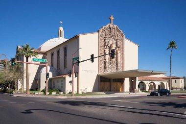 Phoenix, USA - december 13, 2018: St Francis Xavier Catholic Church, Phoenix AZ USA located on Highland and Central