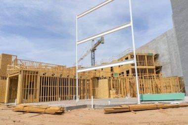 Large scale commercial construction site
