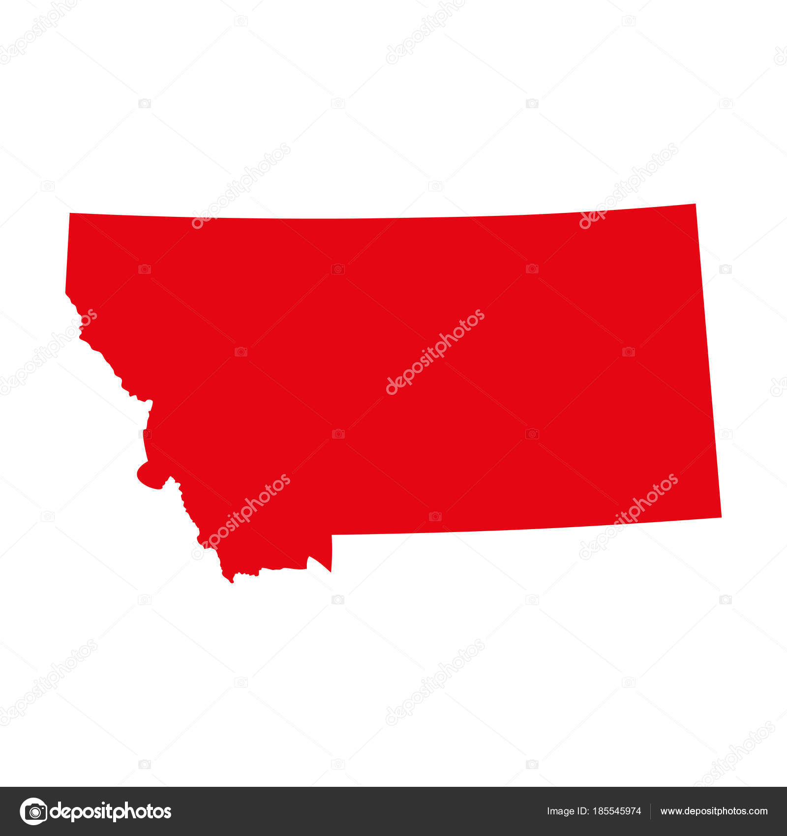 Map Of The U S State Of Montana Stock Vector C Shmonika 185545974