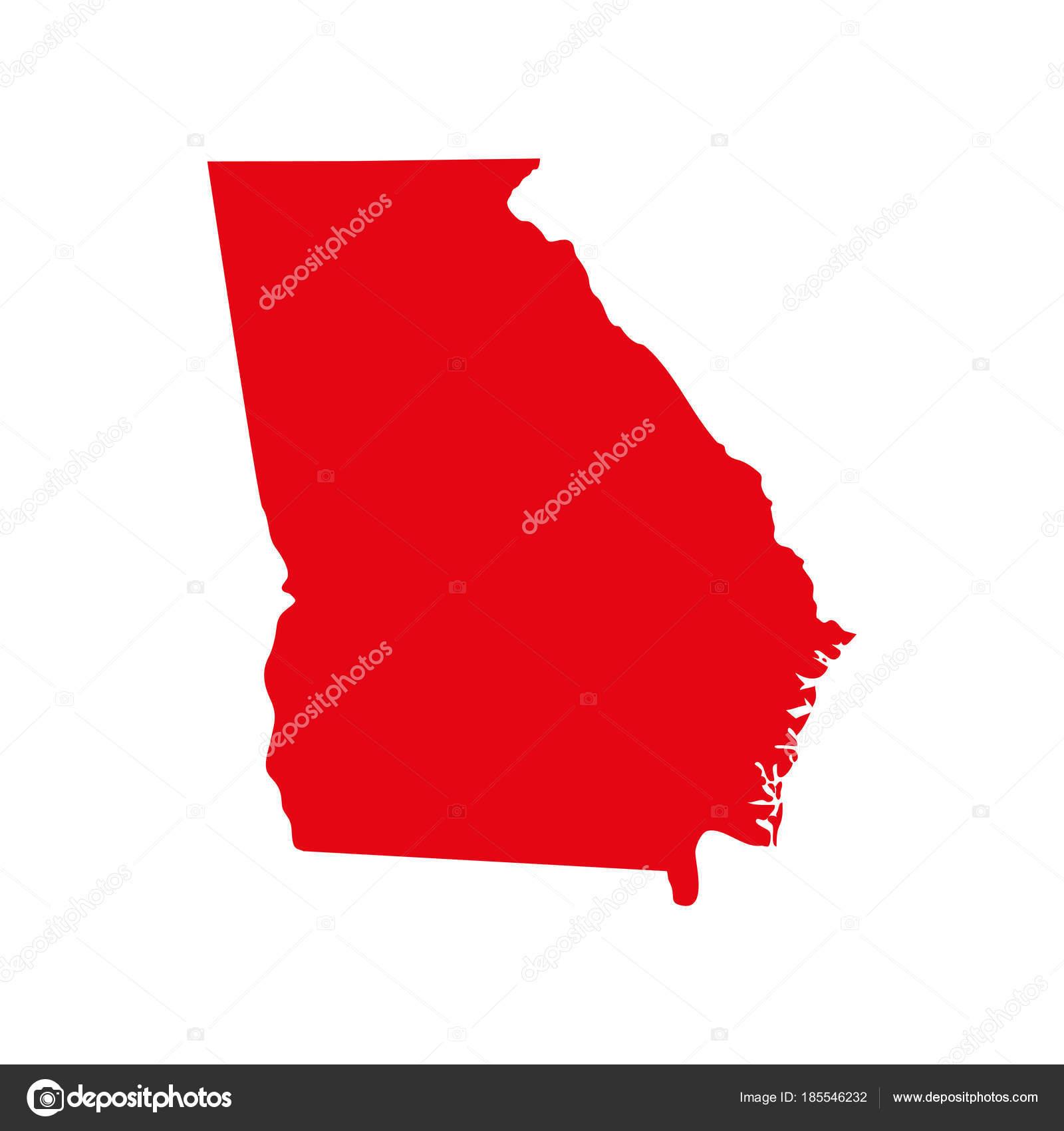 Us Map Of Georgia.Map Of The U S State Of Georgia Stock Vector C Shmonika 185546232