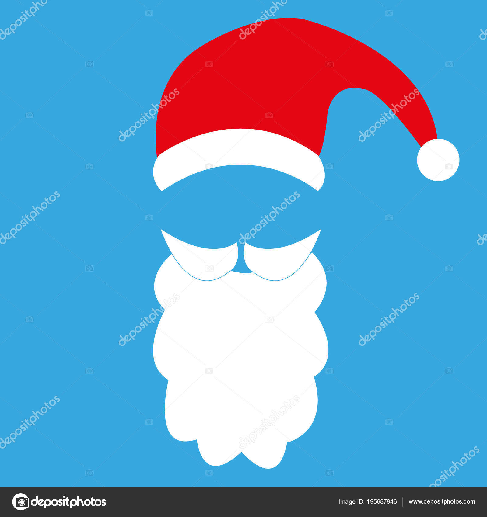 Template for photo mustache with beard and cap of santa claus template for photo mustache with beard and cap of santa claus stock vector maxwellsz