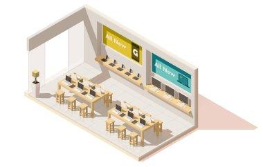 Vector isometric gadget shop