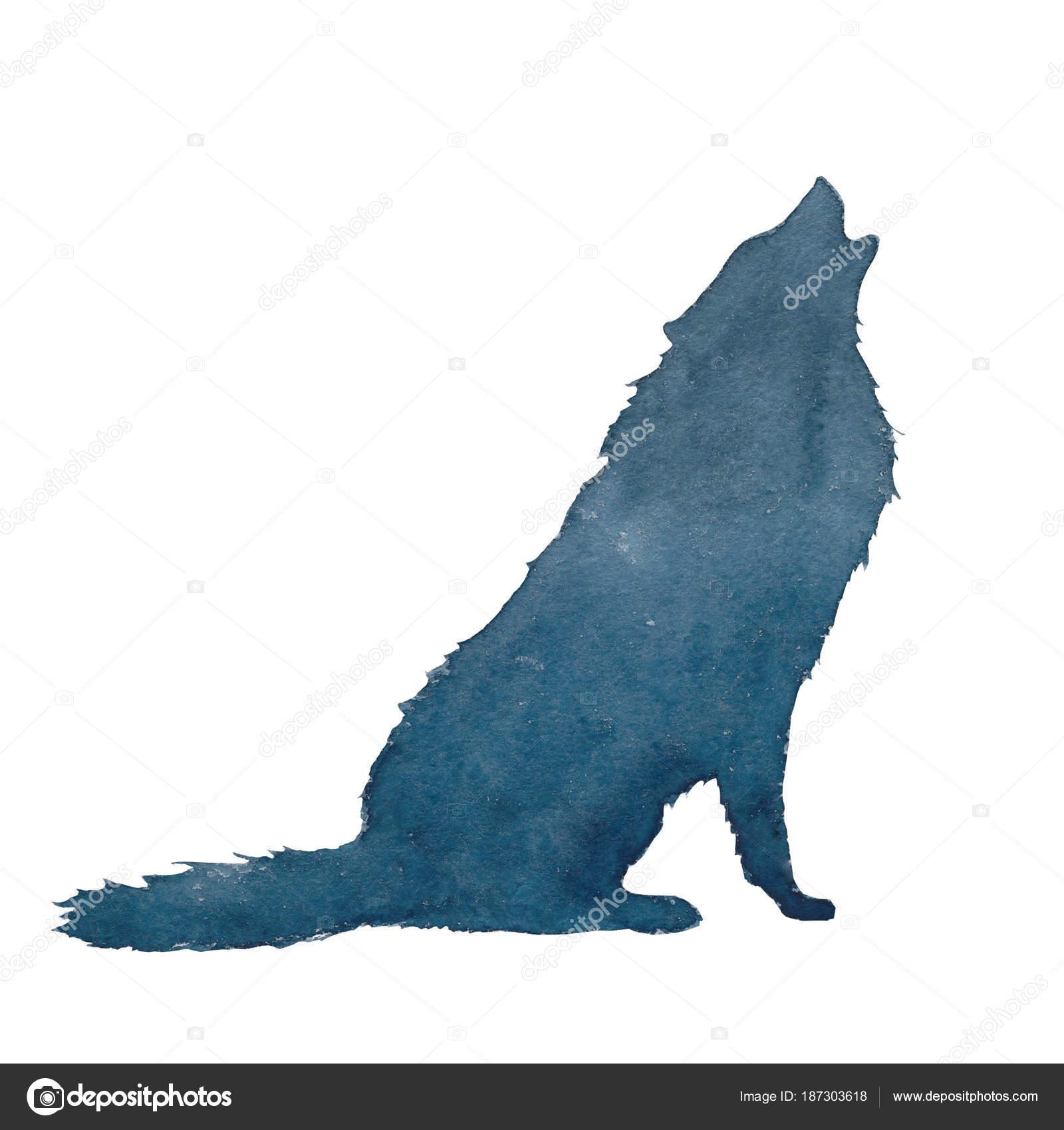 Como Dibujar La Silueta De Un Lobo Acuarela Silueta Lobo Perro