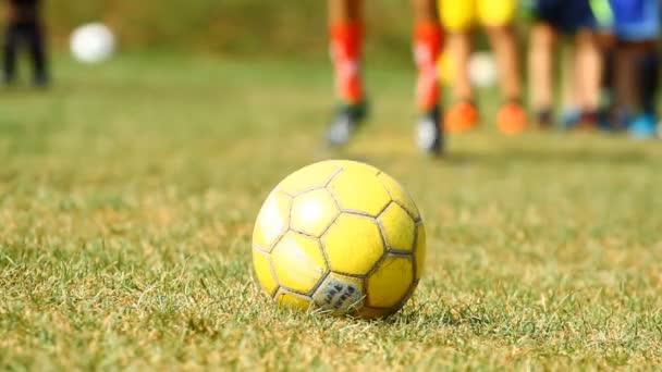 žlutý fotbalový míč