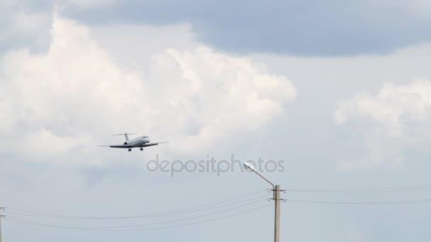 Passenger airplane on landing