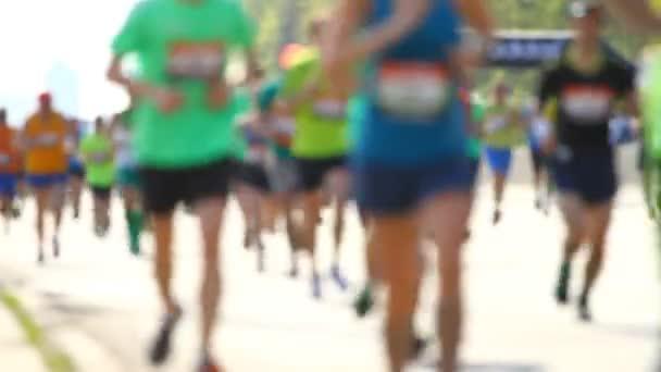 Blurred city half marathon