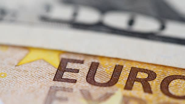 Background from euro banknotes and dollars